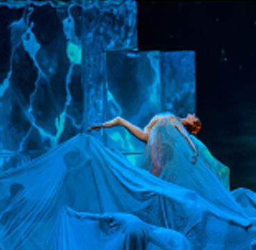 Трехмерный видеомэппинг. Премьера балета «Лисистрата», Государственный Кремлевский Дворец.